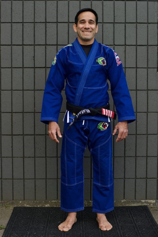 GFTeam Canada mens blue gi white accent front