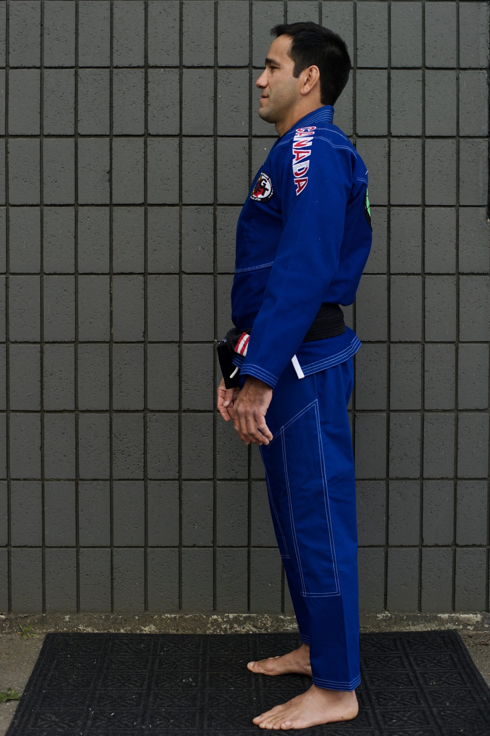 GFTeam Canada mens blue gi white accent right